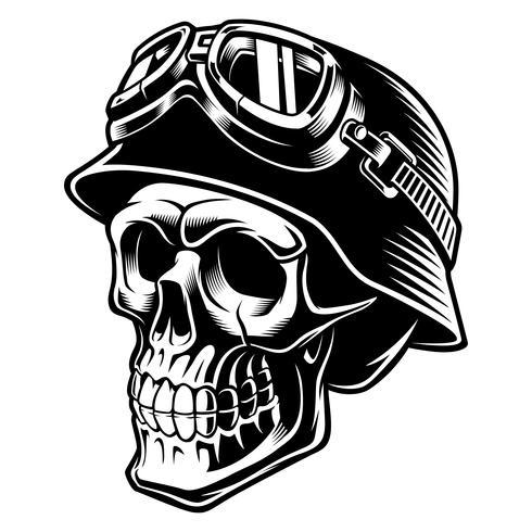 Cráneo del motorista vector