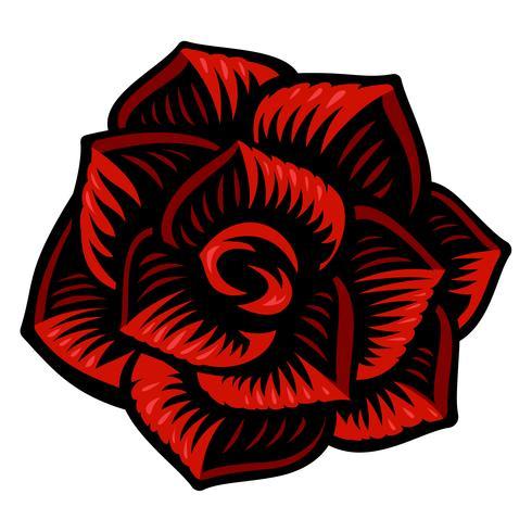 Illustrazione vettoriale di fiore rosa.