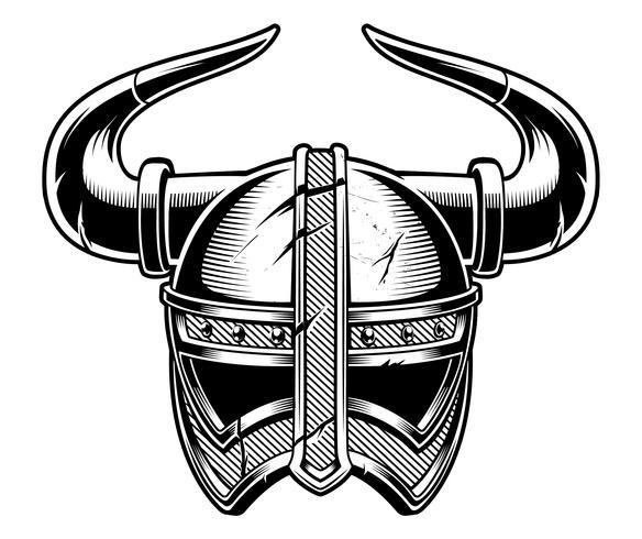 Casco vikingo. vector