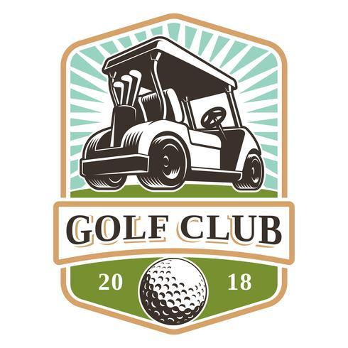 Carro de golf vector logo