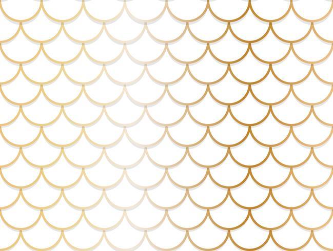 Padrão sem emenda de sobreposição de fundo dourado e branco do círculo