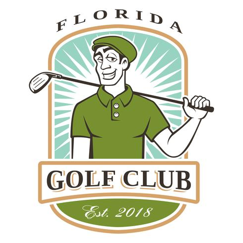 Logo de golfista vector