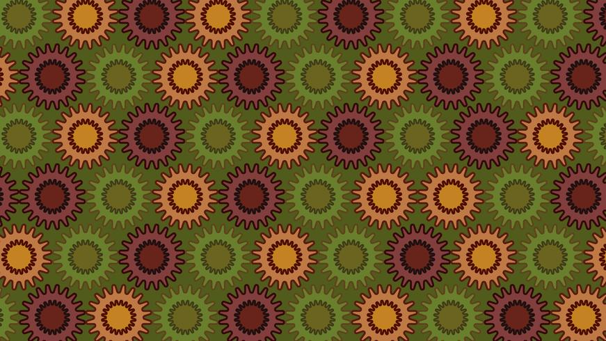 vector illustration of abstract colorful flower background