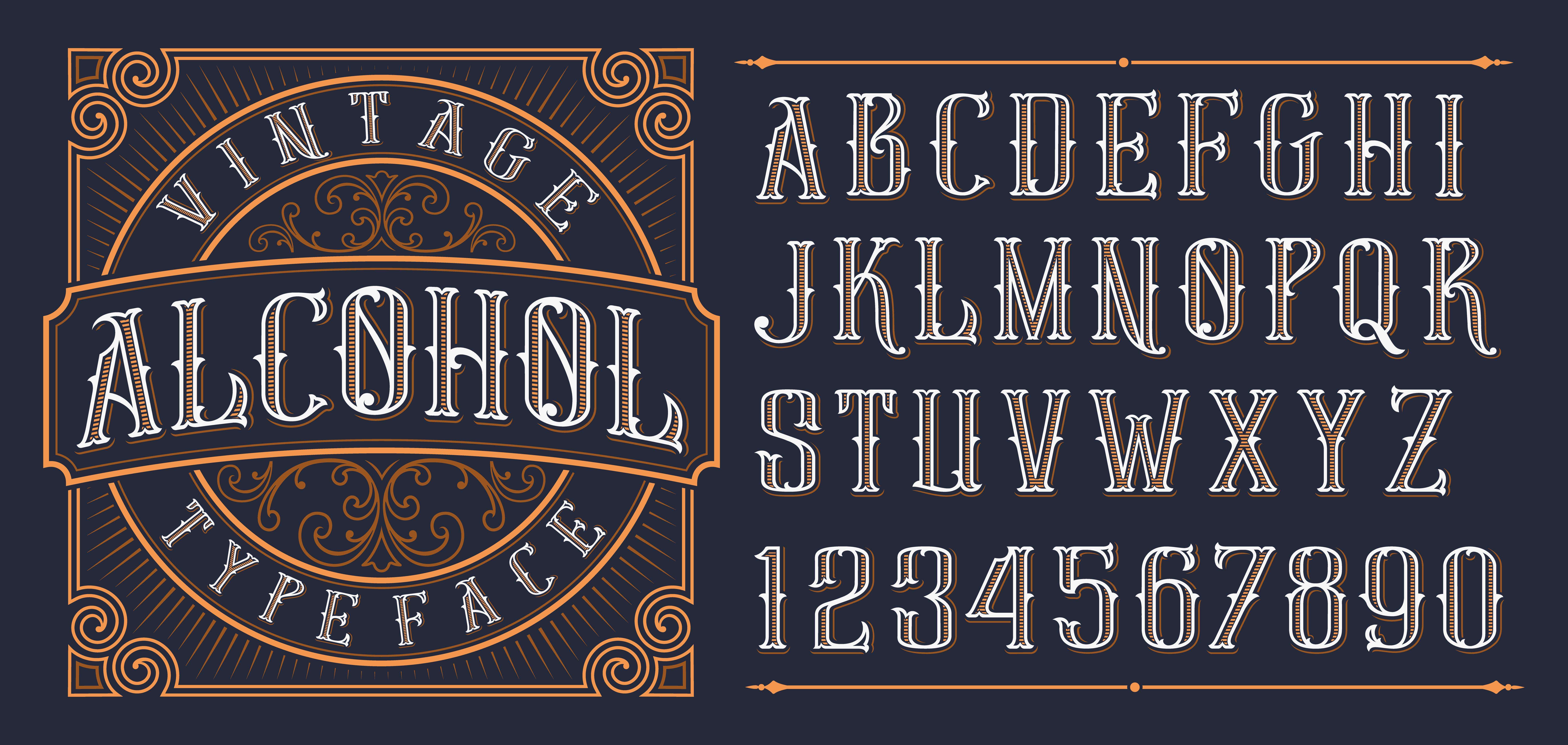 Vintage decorative font. - Download Free Vectors, Clipart ...