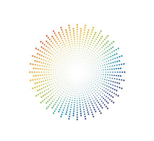 Fondo variopinto astratto del modello di punto dell'arcobaleno - Vector l'illustrazione