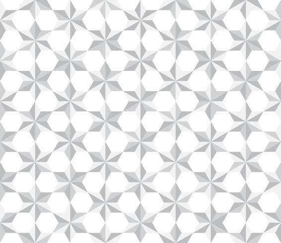 Fondo de polígono de estrellas blancas de patrones sin fisuras - ilustración vectorial