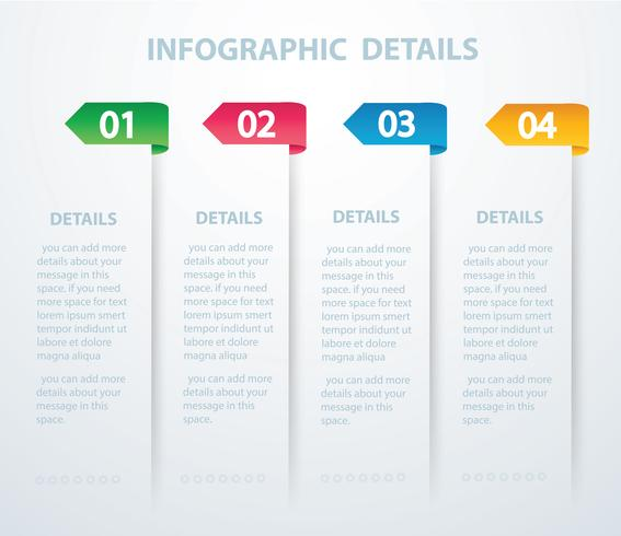 Plantilla gráfica de información vectorial con 4 opciones. Puede ser utilizado para web, diagrama, gráfico, presentación, gráfico, informe, infografía paso a paso. Fondo abstracto vector