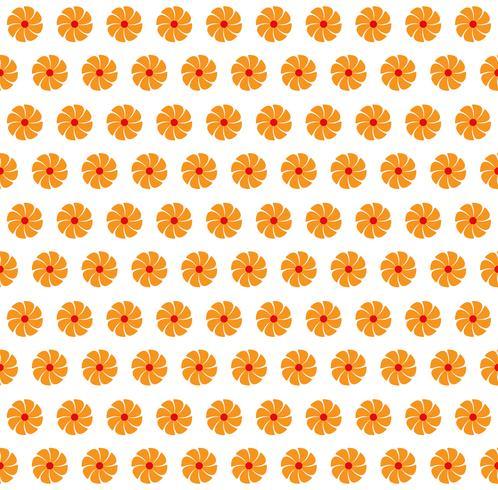 Illustration vectorielle de fond de couleur orange abstraite fleurs sans soudure