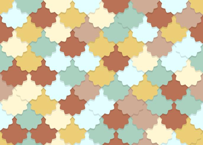 Seamless pattern of overlapping flower shape pastel color background vector