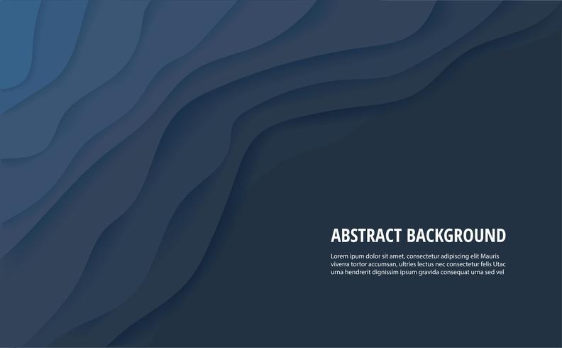 Fondo abstracto de onda azul y espacio para escribir vector