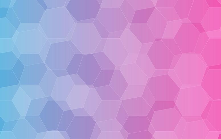 Vettore Sfondo Di Cristallo Poligono Basso Blu E Rosa Chiaro