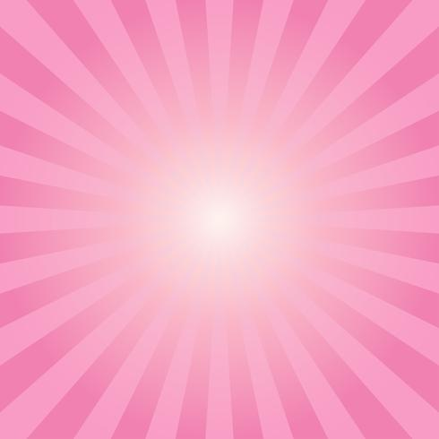 Abstract sunbeams pink rays background - Vector illustration