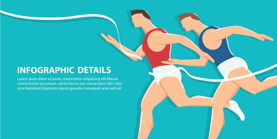 side view of running background,  health conscious concept  vector