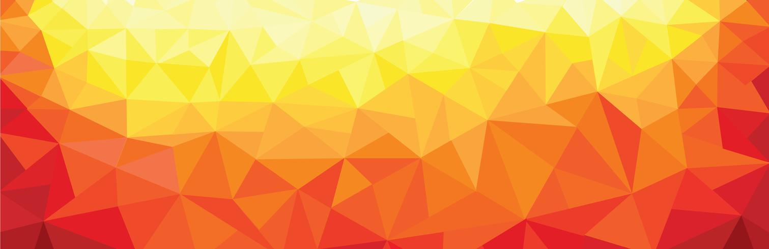 triangle abstrait couleurs chaudes