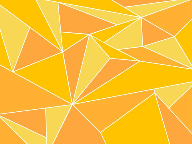 Abstract yellow polygon artistic geometric with white line background vector