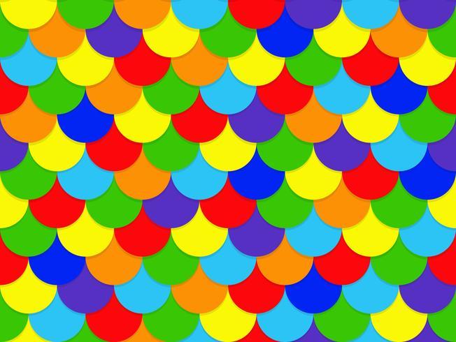 Abstrakter nahtloser Überschneidungsregenbogenkreis-Musterhintergrund - Vector Illustration