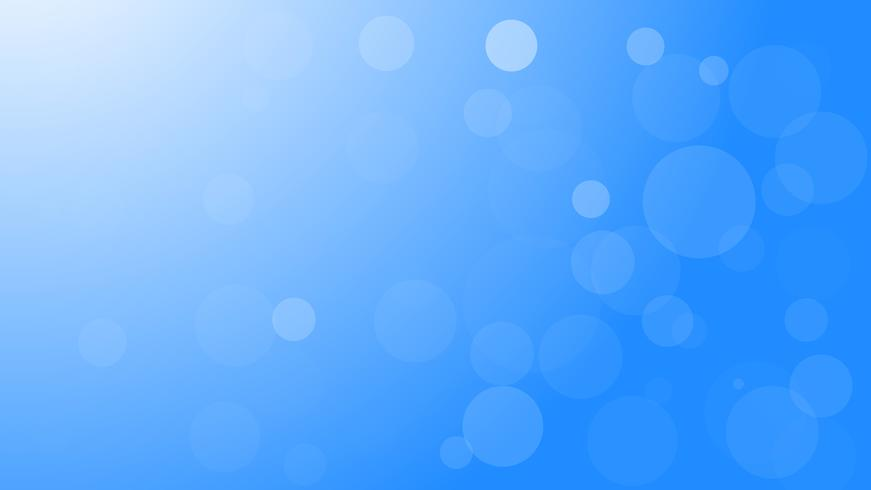 Vector abstract blue bokeh light background