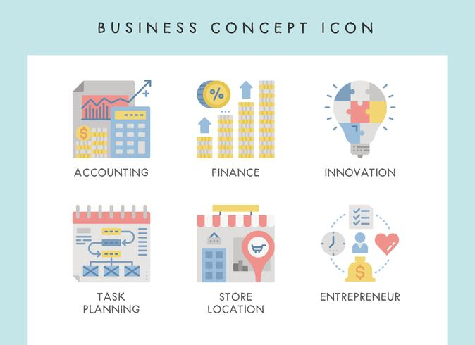 Geschäftskonzept Symbole