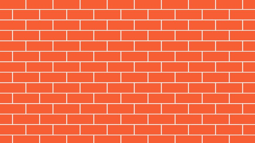 Mur de briques rouges ou orange backgroud - illustration vectorielle
