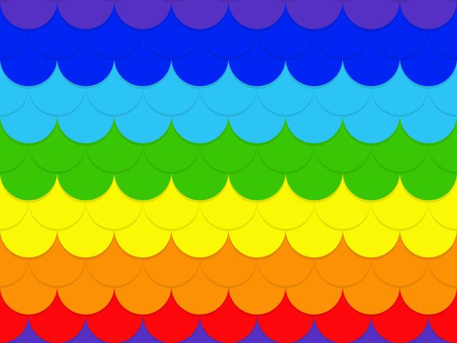 Abstrakter nahtloser Regenbogenkreis-Musterhintergrund - Vector Illustration