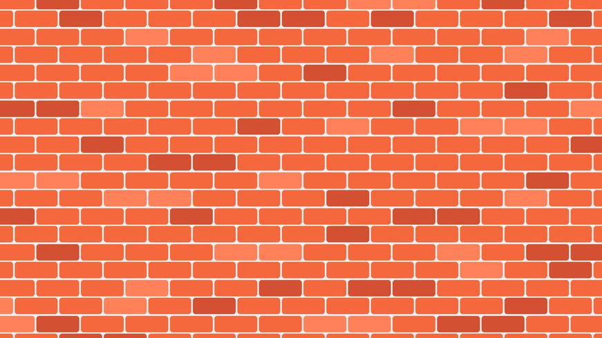 Röd eller orange tegelvägg bakgrund - vektor illustration