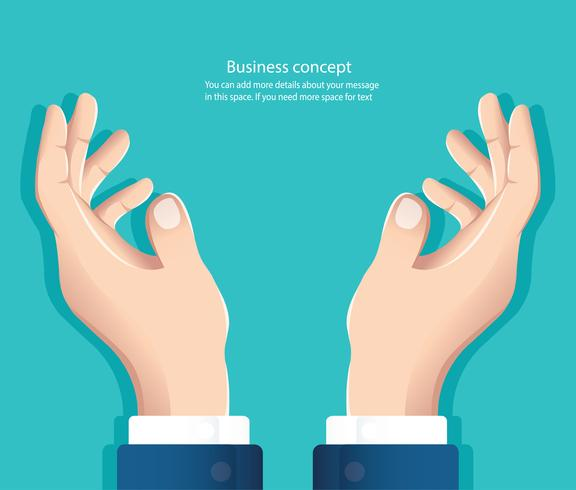 free hands. hand holding something  vector