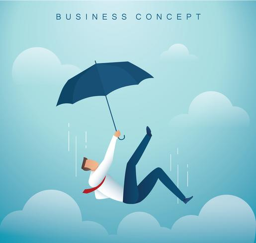 man falling down from the sky. business concept