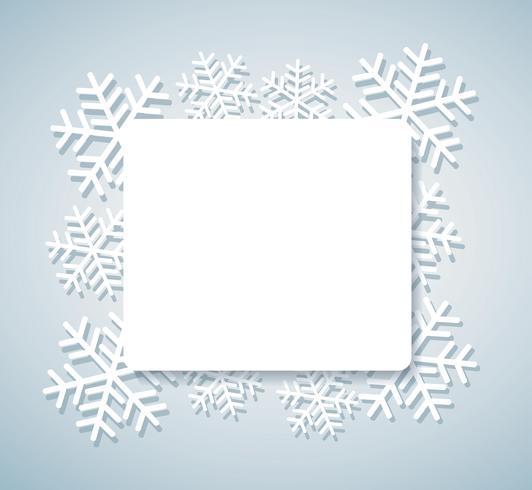 sneeuwvlok banner voor web Kerst concept achtergrond