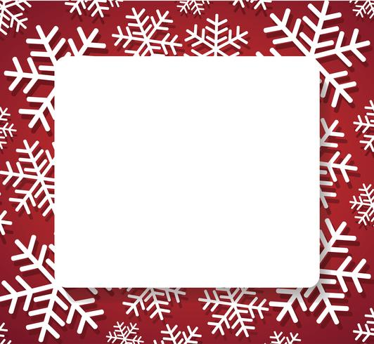 snowflake banner for web Christmas concept background