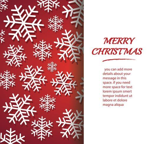 banner di fiocco di neve per il web Sfondo del concetto di Natale