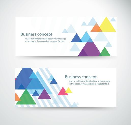 ensemble de papier peint fond triangle pour conceptions de bannière d'en-têtes de site Web