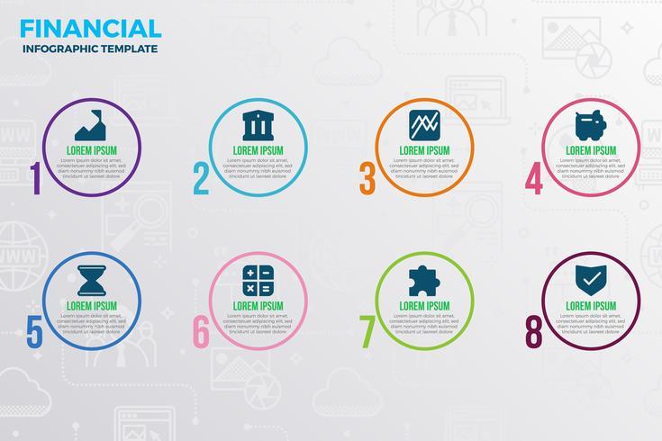 Modello di infografica finanziaria vettore