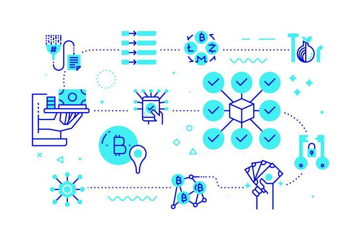 Concetto di tecnologia blockchain