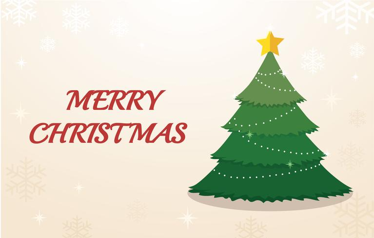 Christmas tree and space for text background  vector
