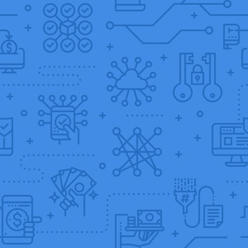 Patrón de vector transparente de seguridad de datos