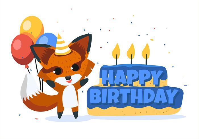Happy Birthday Animal Fox