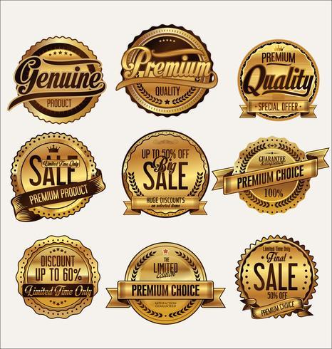 Collezione vintage distintivi ed etichette vintage
