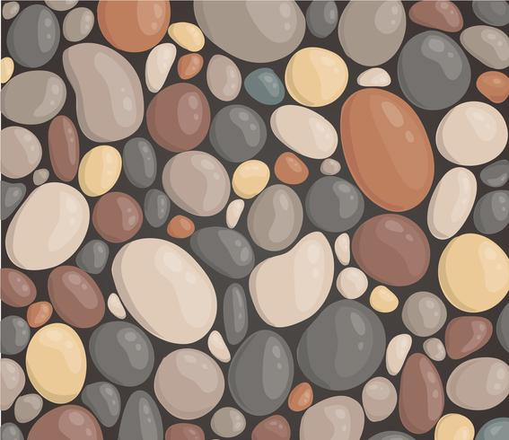 moderne stijl close-up ronde steen achtergrond behang vectorillustratie vector