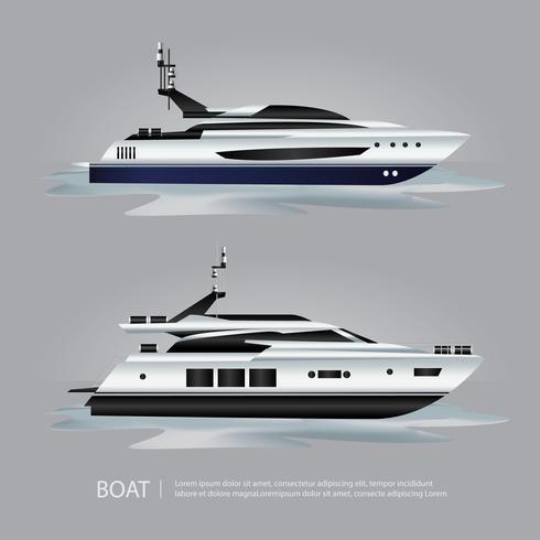 Transportation Boat Tourist Yacht to Travel Vector Illustration