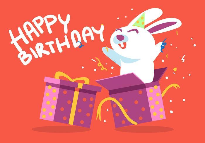 Alles- Gute zum Geburtstagtierweißes Kaninchen