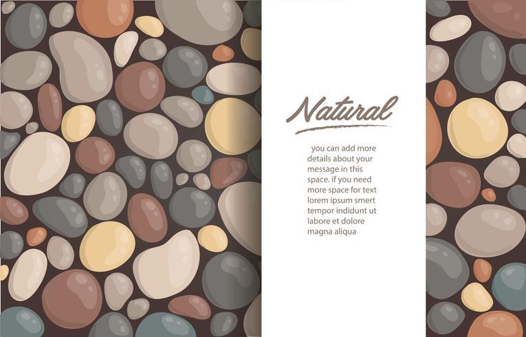moderner Artabschluß herauf runden Steinhintergrund und Raum für schreiben Tapetenvektorillustration