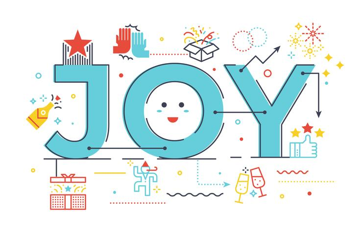 Joy Wort Schriftzug Illustration