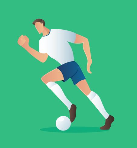 Soccer action player , football player vector illustration