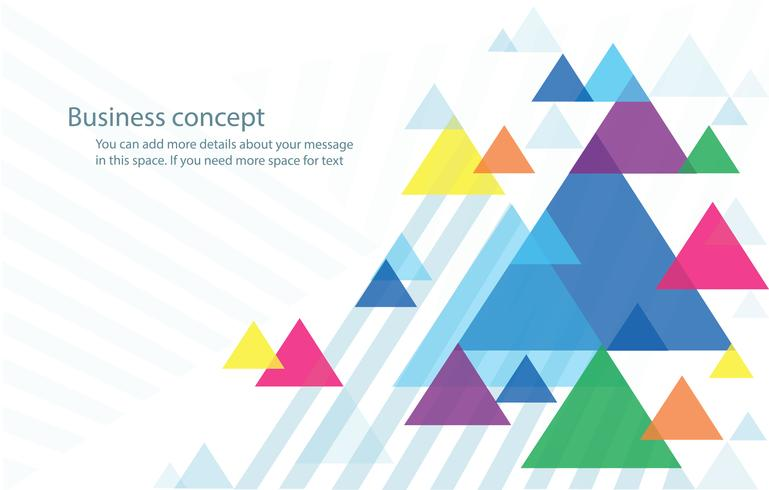Resumen triángulo colorido fondo wallpaper vector ilustración