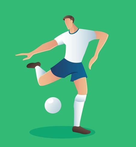 De actiespeler van het voetbal, voetbalster vectorillustratie vector