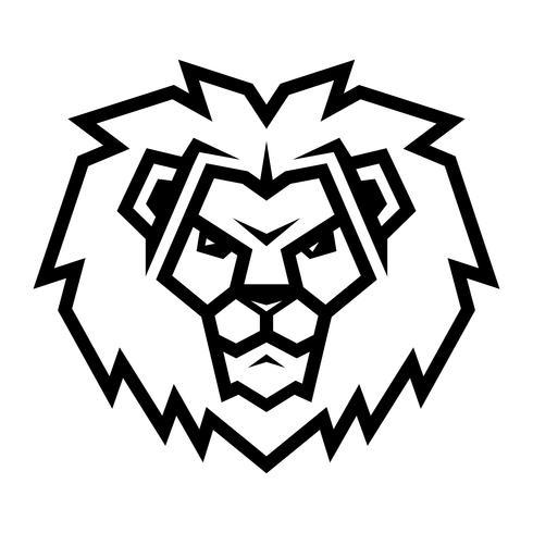 Lion huvud tecknad illustration