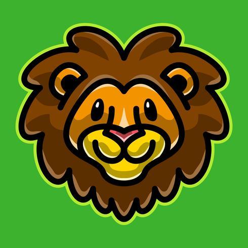 Löwenkopf Cartoon Illustration