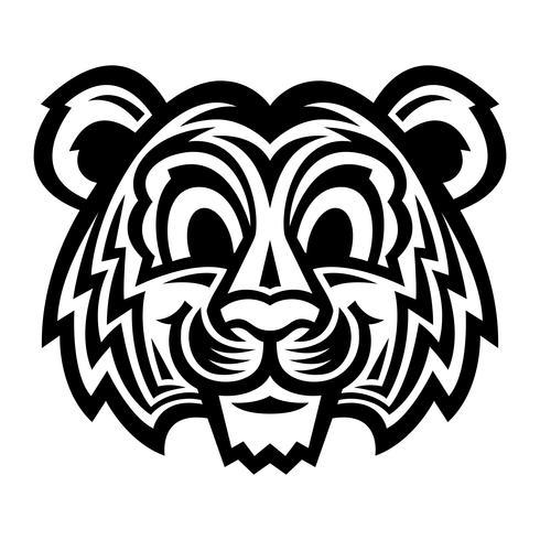 simpatico cartone animato gatto tigre