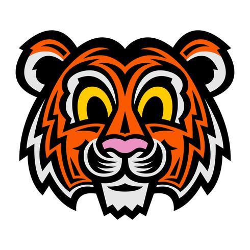 schattige cartoon tijger kat