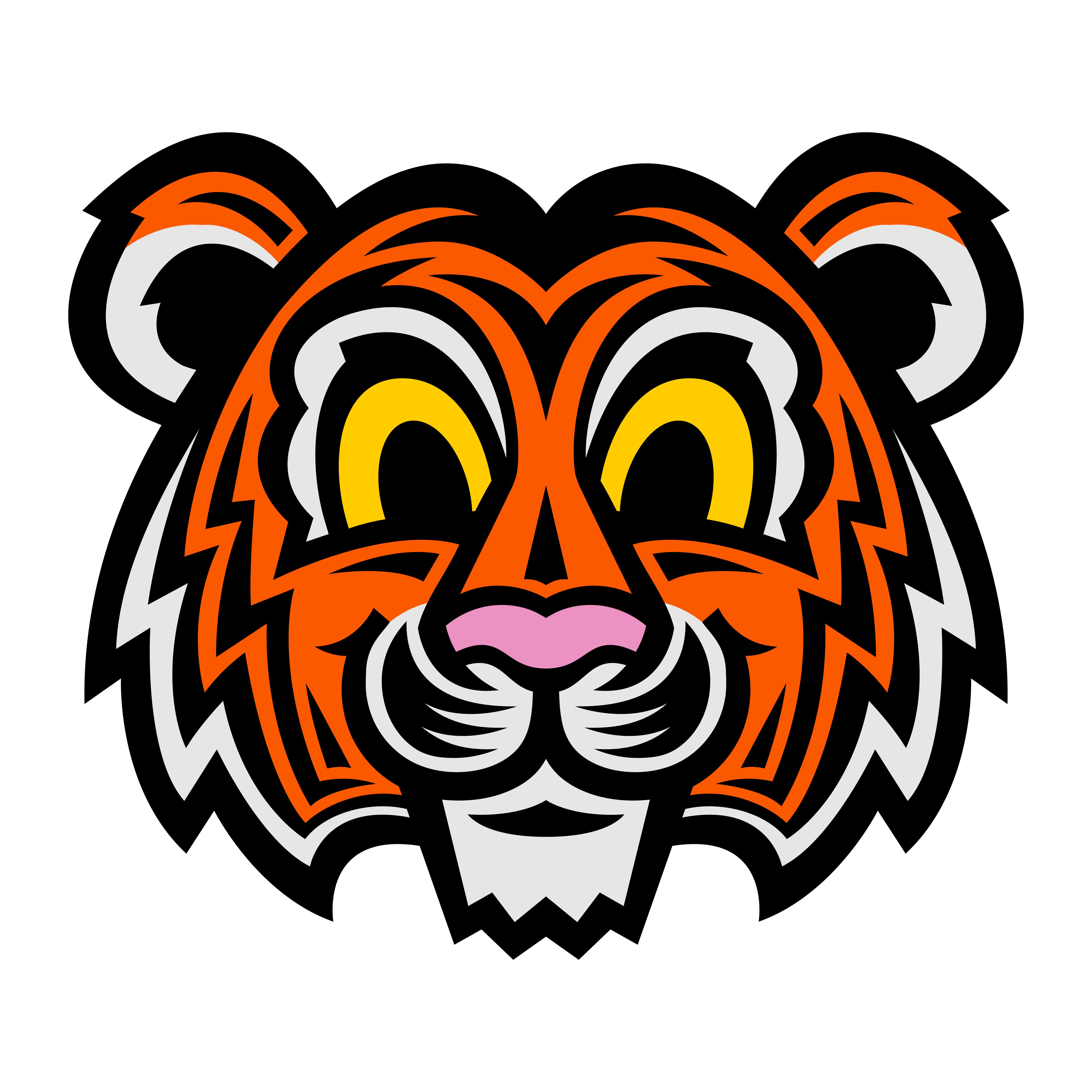 Cute Cartoon Tiger Cat - Download Free Vectors, Clipart ...